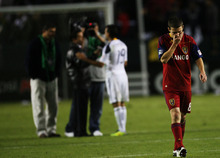 Kim Raff |  The Salt Lake Tribune Real Salt Lake player Will Johnson walks off the field after losing to the  LA Galaxy during the Western Conference Championship at The Home Depot Center in Carson, CA on Sunday, November 6, 2011.