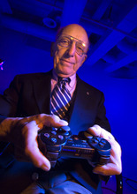 Steve Griffin  |  The Salt Lake Tribune Ralph Baer, known as the Father of Video Games, in Salt Lake City Nov 4. He created the first video game console in the 1960s.