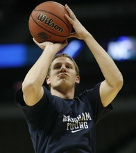 Trent Nelson | Tribune file photo Brock Zylstra averaged 17.3 points during a four-game summer overseas trip, and is expected to start at point guard until UCLA transfer Matt Carlino becomes eligible in mid-December.