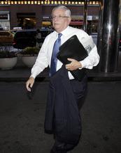 NBA commissioner David Stern arrives for NBA labor talks in New York, Wednesday, Nov. 9, 2011. (AP Photo/Richard Drew)