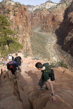 Zion National Park will provide the back drop for some of the events of the fifth annual Red Rock Film Festival of Zion Canyon, that runs through Monday.  Al Hartmann/The Salt Lake Tribune     3/25/2009