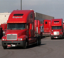 Rick Egan  |  The Salt Lake Tribune England Trucks at the England trucking center in Salt Lake. Dan England, chairman of C.R. England Inc., has been elected chairman of the American Trucking Associations for a one-year term.