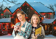 When Martha (Kristy Swanson, left) finds herself homeless with her three children a week before Christmas, she moves to a sleepy town and is hired as a waitress by Trudy (Tess Harper, right), the owner of the local diner. The movie was filmed in Mapleton, Utah. Courtesy Tyler Meiners     Crown Media Networks, Inc.