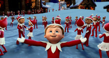 Chippey and his fellow scout elves in the North Pole in