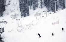 Kim Raff   The Salt Lake Tribune People skiing at Snowbird in Salt Lake City, Utah on Monday, November 21, 2011.