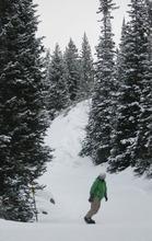 Kim Raff   The Salt Lake Tribune Dave Ayala snowboards at Snowbird in Salt Lake City, Utah on Monday, November 21, 2011.