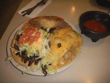 The Salt Flats' Cafe Pancho Special, for $6.95, includes a carne asada taco, an enchilada and chile verde burrito. (Tom Wharton Photo).