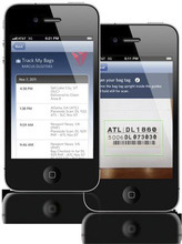 The new Delta Baggage Tracking iPhone app. Courtesy image