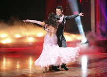 In this Nov. 21, 2011 photo released by ABC, Rob Kardashian, right, and his partner Cheryl Burke perform on the celebrity dance competition series