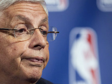 FILE - In this Nov. 10, 2011 file photo, NBA commissioner David Stern speaks during a news conference in New York. NBA owners and players reached a tentative agreement early Saturday morning Nov. 26, 2011 to end the 149-day lockout. The league plans a 66-game season and aims to open camps Dec. 9. (AP Photo/John Minchillo, File)