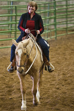 Chris Detrick |  Tribune file photo LaNae Orbin rides her horse, Reno, at the Salt Lake County Equestrian Center. A new master plan identifies $24 million in improvements that, over time, could make the South Jordan facility a major attraction for horse aficionados.