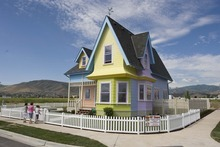 Paul Fraughton  |  The Salt Lake Tribune A full-scale replica of the house in the cartoon feature