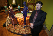 Francisco Kjolseth  |  The Salt Lake Tribune  Adam Price, Executive Director of the Salt Lake Art Center is pictured amongst his latest exhibit called Contemporary Masters which is 18 holes of fully playable miniature golf.