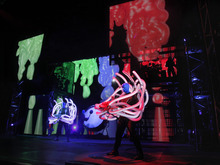 Blue Man Group hits the road for its first U.S. theatrical tour, stopping at Salt Lake City's Kingsbury Hall Dec. 6-11. Courtesy Paul Kolnik