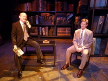ANGELS IN AMERICA. Charles Lynn Frost as Roy Cohn and Alexander Bala as Joe (L to R). Credit: Salt Lake Acting Company