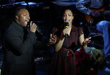 Stephen Holt |  Special to The Tribune  Anise and Carey Drisdom sing