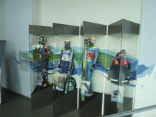 Photo of Hometown Heroes display at Utah Olympic Park near Park City. Courtesy image