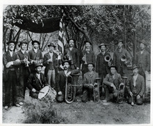 Tribune file photo  The first band in Nephi, Utah, 1870.