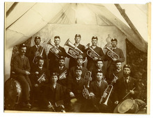 Tribune file photo  This photo shows Huntington, Utah's, band in 1895. Pictured in the photo are: Back row, Milas Johnson Jr., Edward Johnson, William Green Sr., Ulysses W. Grange, Peter Johnson Jr., middle row, Charles Johnson, james V. Leonard, Amos Johnson, Louis W. Johnson, Earnest J. Grange, front row, Oliver Harmon Jr., James Johnson, Milas Wakefield and Henry A. Fowler.