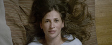 Michaela Watkins plays a woman whose mouth sabotages her in