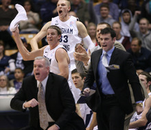 Steve Griffin  |  The Salt Lake Tribune BYU plays the University of Utah noon Saturday at the Huntsman Center.