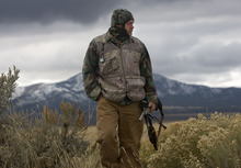 Al Hartmann  |  The Salt Lake Tribune Bill Keebler specializes in guiding coyote hunters. He often hunts the basins and mountain ranges west of his home in Vernon. The wide open terrain makes it impossible to come up on a coyote, so he lures them with reed and electronic calls.