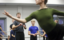 Trent Nelson  |  The Salt Lake Tribune Jacob Stewart, center, is playing a boy at the party during