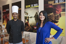 Chris Detrick | The Salt Lake Tribune  Owner Lavanya Mahate and Head Chef Loganathan Kannan at Saffron Valley Indian Street Foods.
