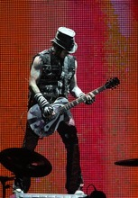 Rick Egan  | The Salt Lake Tribune   DJ Ashba, lead guitar for Guns N' Roses performs with his band at the Maverick Center, late Tuesday, December 13, 2011.