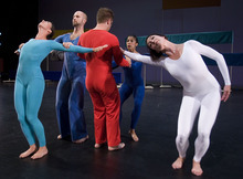 Paul Fraughton  |  Tribune  File Photo RDT dancers from left, Sarah Donohue, Nathan Shaw, Nicholas Cendese, Toni N. Lugo, and Rosy Goodman, perform the dance