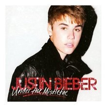 Cover of Justin Bieber's holiday album.