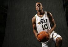 Francisco Kjolseth  |  The Salt Lake Tribune New recruit Alec Burks, a promising 19-year-old prospect is poised to help the Utah Jazz.