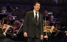 Paul Fraughton | The Salt Lake Tribune Guest star Nathan Gunn sings at The Mormon Tabernacle Choir's Christmas extravaganza  at the LDS Conference Center.   Thursday, December 15, 2011