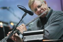 Kim Raff | The Salt Lake Tribune Daron Bradford, a freelance musician, practices for Kurt Bestor's Christmas concert at Abravanel Hall in Salt Lake City on Thursday, Dec. 8, 2011.