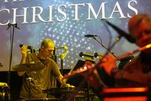 Kim Raff | The Salt Lake Tribune Freelance percussionist Todd Sorenson rehearses for Kurt Bestor's Christmas concert at Abravanel Hall in Salt Lake City on Thursday, Dec. 8, 2011.