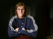 Steve Griffin  |  The Salt Lake Tribune Andrei Kirilenko at the EnergySolutions Arena on April 7. Kirilenko is now playing professionally at home in Moscow.