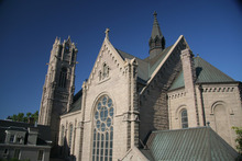 Salt Lake City's Catholic Cathedral of the Madeline on South Temple.  Photo by John D. Linford