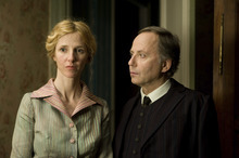 Jean-Louis (Fabrice Luchini, right) and his wife Suzanne (Sandrine Kiberlain) face challenges with a new maid in the French comedy
