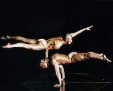 Courtesy photo Former Polish national hand-balancing champions Jaroslaw Marciniak and Dariusz Wronski,