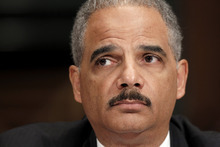 Attorney General Eric Holder testifies on Capitol Hill in Washington, Tuesday, Nov. 8, 2011, before the Senate Judiciary Committee hearing in the arms trafficking investigation called Operation Fast and Furious. (AP Photo/J. Scott Applewhite)