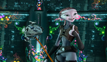 In this film publicity image released by Walt Disney Studios, the character Ki, voiced by Elisabeth Harnois, is shown in a scene from