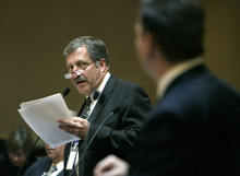 Tribune file photo  Jon Greiner, shown here as an Ogden state senator, has been found in violation of the federal Hatch Act by the Merit System Protection Board. The act prohibits people who oversee federally funded programs from serving in partisan elected office. The board ruled that Greiner should be fired from his job as Ogden Police Chief or the city could face the loss of federal funds.