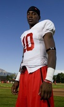 Trent Nelson  |  The Salt Lake Tribune Utah wide receiver DeVonte Christopher poses for a portrait after practice in Salt Lake City, Utah, Wednesday, August 17, 2011.