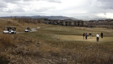 Leah Hogsten | The Salt Lake Tribune   Golfers on the links at River Oaks Golf Course in Sandy. The Wasatch Front and much of the state are on track for the driest December since weather records have been kept.