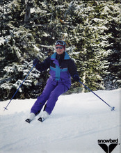 The chance to ski like this, captured by a slopeside professional photographer at Snowbird, convinced Joan Campbell Arata to move from Wisconsin to Utah in 1981. Courtesy photo