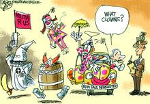 Pat Bagley cartoon, January 4, 2012.