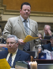 Tribune file photo Rep. Carl Wimmer speaks on the floor of the Utah House on Tuesday, Feb. 22, 2011. The Herriman Republican is leaving the Legislature to focus on his run for Congress.