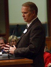Leah Hogsten | The Salt Lake Tribune   South Jordan City Council chose Scott Lee Osborne to lead the city as mayor, Tuesday, January 3, 2012, replacing Kent Money, who is stepping down. All 19 applicants spoke at Tuesday's council meeting.