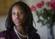 Tribune File Photo Mia Love, mayor of Saratoga Springs, is jumping into the 4th Congressional District contest. She faces fellow Republicans Stephen Sandstrom and Carl Wimmer, both state lawmakers, in the battle for the GOP nomination.