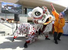 Rick Egan   |  Tribune file photo Performers show the traditional Lion Dance at the groundbreaking ceremony for the Chinese Heritage Gate at the Utah Cultural Celebration Center in West Valley City on July 26, 2011.